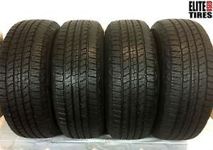 Set Of 4 Goodyear Wrangler Fortitude Ht Owl 265 65 18 Tire Driven Once
