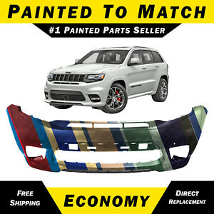 Painted To Match Front Bumper For 2017 2020 Jeep Grand Cherokee Srt 8 Trackhawk