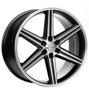 4ea 22 Iroc Wheels Black Machined 6 Lugs Rims S41