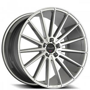 4ea 22 Staggered Gianelle Wheels Verdi Silver Machined Rims s41