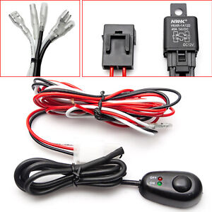 Universal Wiring Harness Kit Relay Switch Waterproof Led Work Light Bar 12v 40a