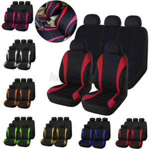 9x Car Suv Van Seat Covers 9 Pieces Front Rear Full Interior Set Split Bench