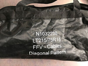 Pair Of Diagonal Pattern Tensioner Cables Snow Chains Lt215 75r15 N1032205 New