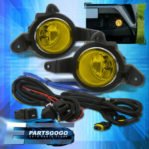 For 17 19 Toyota C hr Chr Bumper Driving Yellow Fog Lights Lamps Switch Kit