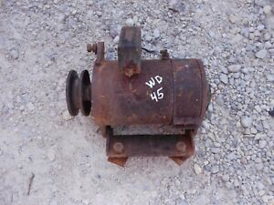 Allis Chalmers Wd45 Ac Tractor 6v Generator Belt Drive Pulley Good Working 45