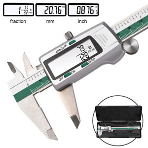 Stainless Steel Digital Display Vernier Caliper Lcd 150mm Fraction mm inch Tools