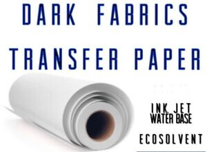 Inkjet Printable Heat Transfer Paper For Dark Fabrics Roll 24 x50
