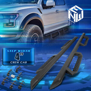 For 15 20 Ford F 150 Super Crew Cab Round Tube Drop Step Nerf Bar Running Boards