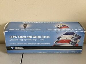 Used Usps Stack And Weigh Stackable Shipping Scales 1 6 Lbs Red White Blue