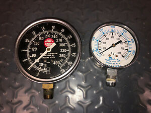 Mac Tools Atg4 And Snap on 0 800 Psi Pressure Gauges Parts Only
