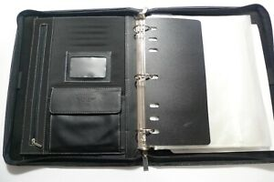 Day timer Leatherette Zip Organizer Handled 3 ring Binder Zip Planner