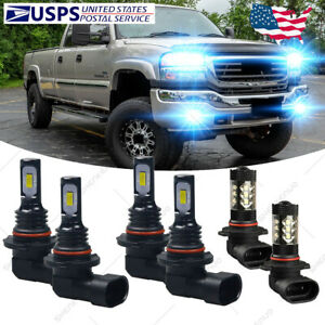 For Gmc Sierra 1500 3500 2003 2004 2005 2006 Led Headlight Fog Light Bulbs Hkl