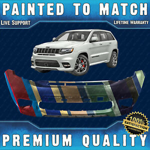 New Painted To Match Front Bumper For 2017 2020 Jeep Grand Cherokee Srt8 W Park