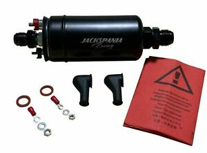 380lph Fuel Pump External Inline For Bosch 044 Aem Check Valve 10an 8an 1000hp