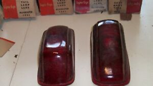 1941 Plymouth Tail Light Lens Match Color Set Ships Free P11 Deluxe P11 Standard