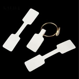 100pcs Jewelry Price Tags Necklace Bracelet Ring Blank Labels Paper Stickers Tag