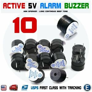 10pcs Active Buzzer Magnetic 5v Long Continous Beep Tone 12 9 5mm For Arduino