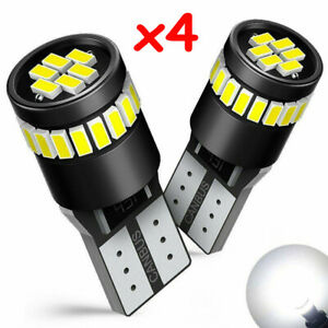 4pcs T10 501 194 W5w Smd 24 Led Car Canbus Error Free Wedge Light Bulbs White