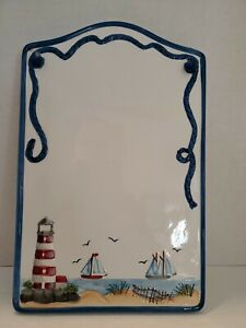 Ceramic Dry Erase Board Lighthouse And Beach