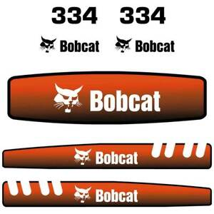 Bobcat 334 Decals Stickers Repro Aftermarket Decal Sticker Kit