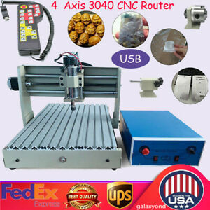 4axis Cnc 3040t Engraving Milling Machine 3d Engraver Drilling Usb Router remote