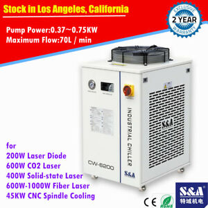 Cw 6200bn Industrial Water Chiller For 600w Co2 Laser 45kw Cnc Spindle Cooling