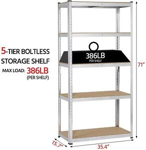Garage Shelf Storage Heavy Duty Steel Shelving Units Adjustable Utility Shelves