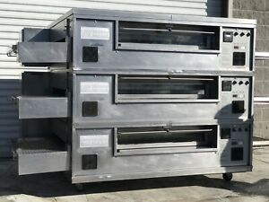 Middleby Marshall Triple Ps570g Pizza Oven Conveyor Nat Gas 208v 1phase Tested