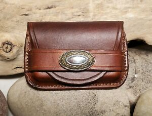 The Stockman Custom Western Business Card Holder Hand Tooled Veg Tanned Leather