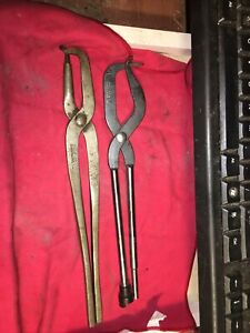 Lot Of 2 Vintage Brake Spring Pliers Snap On Tools No 31and Kd 298 Usa