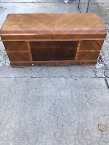 Cedar Chest Trunk Vintage Original Wood