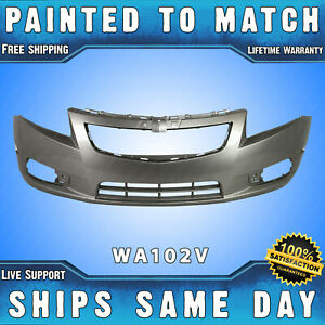 New painted 102v Champagne Silver Front Bumper Cover For 2011 2014 Chevy Cruze