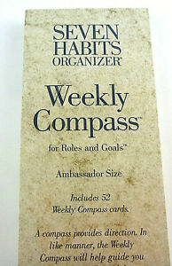 Stephen Covey Planner Ambassador Size 52 Weekly Compass Cards Goals 7 Habits New