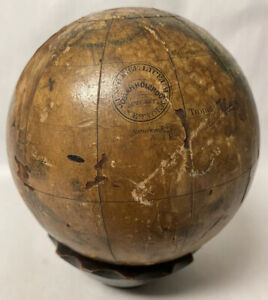 Antique Josiah Holbrook Small Size Terrestial Globe Wethersfield Ct
