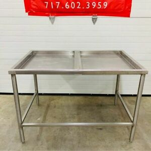 Stainless Steel W Two 27 Removable Top Sections Bakery Butcher Table 48