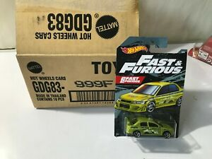 2019 Hot Wheels Mitsubishi Lancer Evolution 1:64 1 64 Fast amp; Furious 3 6 READ $13.99