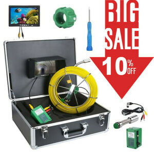 Waterproof Drain Pipe Sewer Inspection Camera System 7 lcd 1000 Tvl Camera 30m