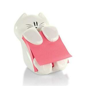 Post it Cat Figure Pop up Note Dispenser 3 Inch X 3 Inch cat 330 Colors May