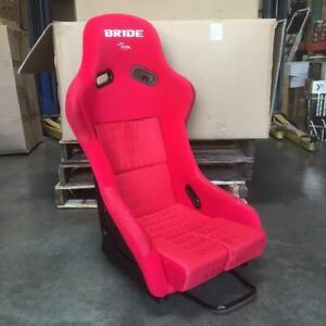 Bride Style Vios Iii Fixed Back Full Racing Bucket Seat Red Frp Shell Large