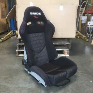 Bride Style Gias Black Red Stitching Frp Low Max Reclinable Racing Seat Large