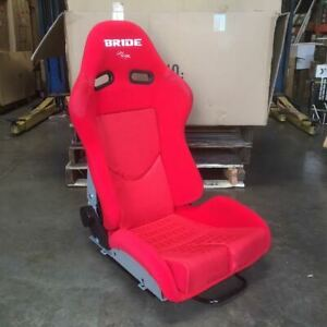 Bride Style Gias Red Gradation Black Frp Low Max Reclinable Racing Seat Large