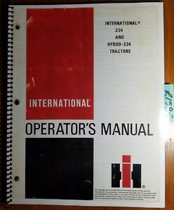 Ih International 234 Hydro 234 Tractor Owner Operator s Manual 1258522c3 6 83