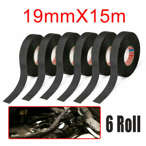 6packs Cloth Tape Wire Electrical Wiring Harness Car Auto Suv Truck 15m Length