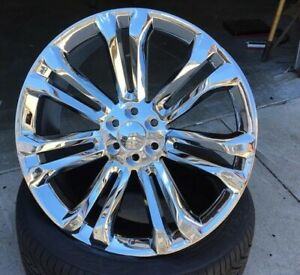 4 New 24 Gmc Replica Wheels Chrome Gm Chevy Silverado Sierra 298 24x10 24s
