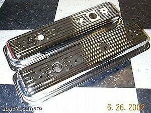 Sbc Small Block Chevy Center Bolt Chrome Valve Covers Vortec 5 7 Short