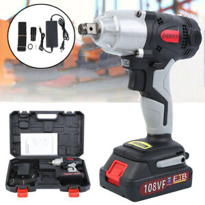 108vf 12800ma Cordless Electric Impact Wrench Torque Drill Tool 320nm W case