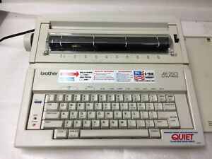 Brother Ax 250 Electronic Typewriter With Key Cover