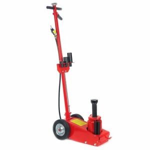 Heavy Duty 35 Ton Air Hydraulic Floor Jack Wheels Lift Truck Bus Shop Equipment