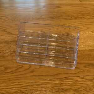 Clear Acrylic Business Card Holder 8 Pocket 4 Tier Stand Counter Desktop Display