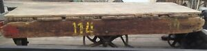 Vintage Industrial Factory Warehouse Dolly Railroad Coffee Table Cart